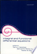 Integral and Functional Differential Equations