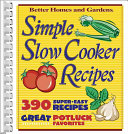 Simple Slow Cooker Recipes