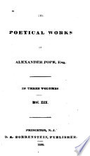 The Poetical Works of Alexander Pope  Esq