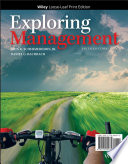 """Exploring Management"" by John R. Schermerhorn, Jr., Daniel G. Bachrach"