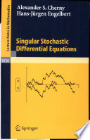 Singular Stochastic Differential Equations Book PDF