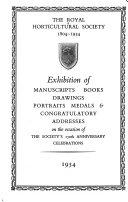The Royal Horticultural Society  1804 1954