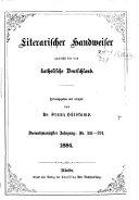 Literarischer Handweiser zunächst für alle katholische Deutschland