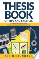 Thesis Book Of Tips And Samples