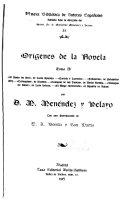 Orígenes de la novela ...: Marcelino Menéndez y Pelayo [por A. Bonilla y San Martin] Bibliografía de Menéndez y Pelayo (p. 91-148) El