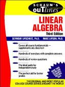 Schaum s Outline of Linear Algebra