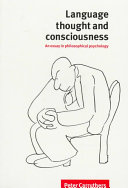 Pdf Language, Thought and Consciousness