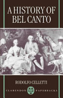 History of Bel Canto, A.