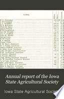 Annual Report of the Iowa State Agricultural Society Book