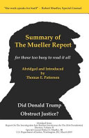 Summary of the Mueller Report, for Those Too Busy to Read it All