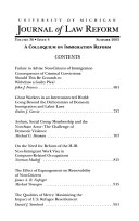 University of Michigan Journal of Law Reform