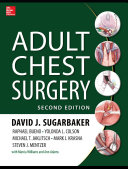 Pdf Adult Chest Surgery, 2nd edition Telecharger