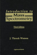 Introduction To Mass Spectrometry Book PDF