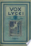 Vox Lycei 1933-1934