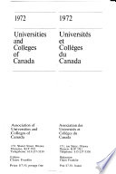 Universities and Colleges of Canada