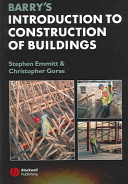 Cover of Barry's Introduction to Construction of Buildings