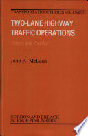 Two-lane Highway Traffic Operations