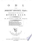 Ode to Robert Brooke  Esquire Book