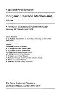 Inorganic Reaction Mechanisms Book