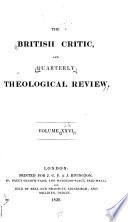 The British Critic, Quarterly Theological Review, and Ecclesiastical Record  , Band 26