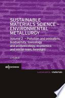 Sustainable Materials Science   Environmental Metallurgy