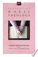 Journal of Moral Theology  Volume 10  Special Issue 1