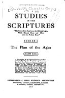 Studies in the Scriptures  The plan of the ages