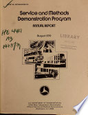 Service and Methods Demonstration Program Annual Report
