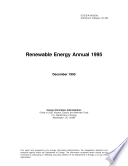 Renewable Energy Annual 1995 Book
