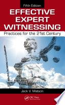 Effective Expert Witnessing Book