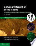 Behavioral Genetics Of The Mouse Book PDF