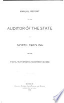 Annual Report of the Auditor of the State for the Fiscal Year Ending September 30 ...
