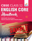 (FREE SAMPLE) CBSE Class 12 English Core Handbook - MINDMAPS, Solved Papers, Objective Question Bank & Practice Papers