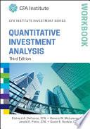 Quantitative Investment Analysis Workbook