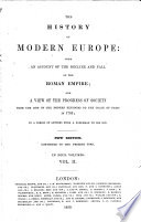 The History of Modern Europe     A new edition     revised  etc