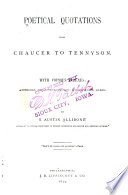 Poetical Quotations from Chaucer to Tennyson Book PDF