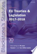 Blackstone S Eu Treaties And Legislation 2017 2018