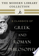 The Modern Library Collection of Greek and Roman Philosophy 3 Book Bundle