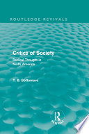 Critics of Society (Routledge Revivals)
