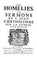 Homélies ou sermons sur la Genèse
