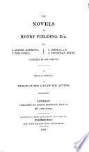 The novels of Henry Fielding     complete in one volume  To which is prefixed  a memoir of the life of the author  by sir W  Scott