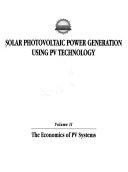 Solar Photovoltaic Power Generation Using PV Technology  The economics of PV systems