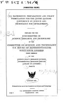 U.S. Background Preparations and Policy Formulation for the United Nations Conference on Science and Technology for Development