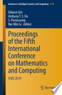 Proceedings of the Fifth International Conference on Mathematics and Computing