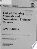 List of Training Manuals and Nonresident Training Courses