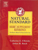 Natural Standard Herb   Supplement Reference Book