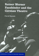 Rainer Werner Fassbinder and the German Theatre