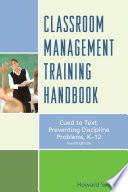 Classroom Management Training Handbook