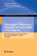 E Democracy     Safeguarding Democracy and Human Rights in the Digital Age