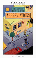 The Oxford Dictionary of Abbreviations